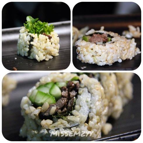 Waygu beef sushi rolls