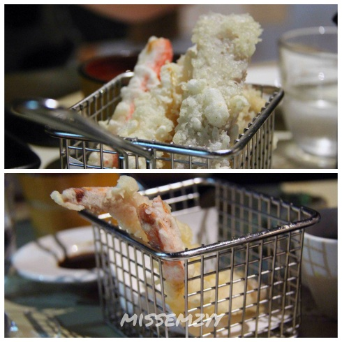Assorted vegetable and seafood tempura