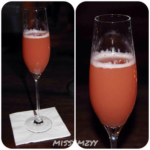 Blood Peach Bellini