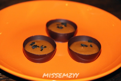 Vegemite caramel chocolate cups