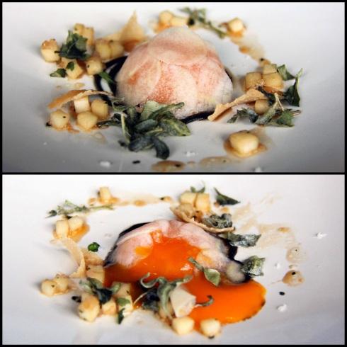 Duck yolk, pear and truffle
