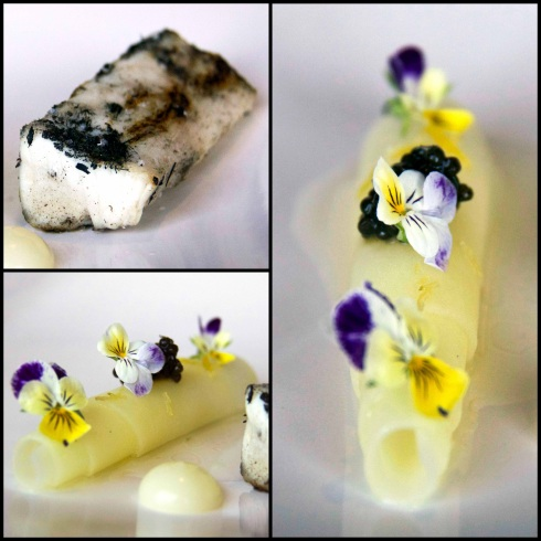 Spanish Mackeral, potato, caviar and lemon